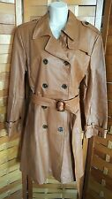 Terry Lewis Woman's M 3/4 Length Light Brown Belted Leather Jacket