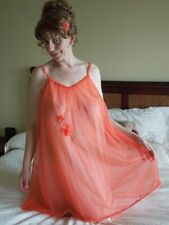 VINTAGE SHORT DOUBLE-LAYER NYLON NIGHTGOWN/NIGHTIE by VANITY FAIR Sz Small