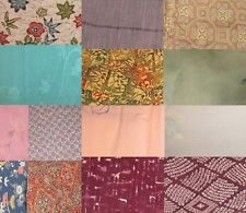 1 lb Mix Vintage Japanese Kimono Fabric Bundle Mostly Silk -  for Crafting