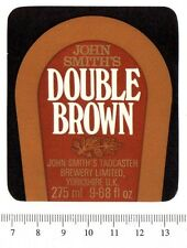 UK Beer Label - John Smith's Brewery - Yorkshire - Double Brown (version a)