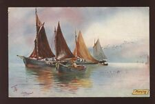 FISHING Boats Morning Tuck Aquarette PPC #6283 Fishing in the North Sea