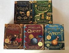 Lot 5 Septimus Heap Books 1-5 by Angie Sage Magyk Flyte Physic Queste Syren