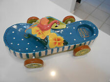 """DIANE'S HAPPY TOES 2004 FLIP FLOP/TROPICAL WITH WHEELS-VG+ CONDITION 8 1/2"""" LONG"""