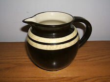 Vintage Ellgreave Burslem Brown Marbled Glaze Pitcher England