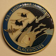 160th SOAR Airborne 3d BN A Co Night Stalkers Blackwolves Army Challenge Coin