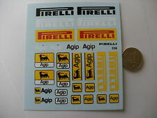 decals decalcomanie divers pirelli agip  1/18 pour ferrari etc