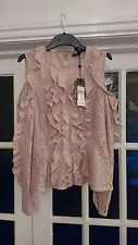 BCBG Maxazria Maddy Cold Shoulder Lace Top