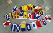 Nautical Sailboat Boating Signal Code FLAG - String of 26 Flag - 8 Feet Long