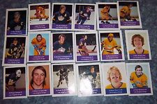 Los Angeles Kings loblaws NHL action players 1974-75  complete set