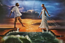"""African American Art """"Step Out on Faith - Love"""" Religious Art Print by WAK"""