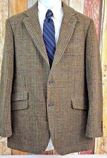 Marks & Spencer Yorkshire Moon Tweed Brown Houndstooth Jacket Sport Coat 42 Long