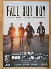 Fall Out Boy 2015 Berlino-ORIG. concert poster concerto MANIFESTO a1 NUOVO
