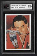 1983 Cartophilium Hockey Hall of Fame NNO Jean Beliveau KSA 9.5 NMM Blank Back