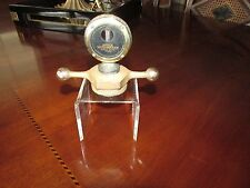 1920's Boyce moto meter brass dog bone cap nice condition acrylic stand disolay