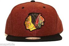 New NHL Mitchell & Ness Snapback Chicago Blackhawks Denim Harry 2 Tone Hat