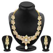 Sukkhi Intricately Gold Plated AD Necklace Set(2556NADP600)