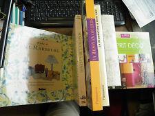 lot de 6 livres sur la décoration - maison déco d'intérieur