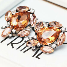 2016 New design women gorgeous bib statement  mixed crystal long 31mm Earrings