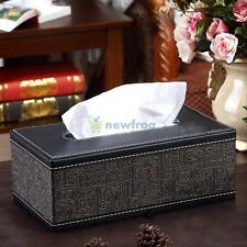 PU Leather Tissue Box Holder Cover Egypt Style Home Decor Living Room Storage