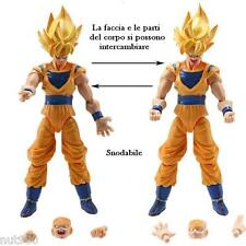 GOKU - 2 PERSONAGGI -16Cm.- Dragon Ball Z Super Sayan Figure Modellino Statuina