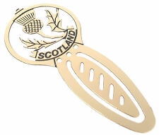 Scotland Thistle Brass Etched Bookmark & Gift Bag