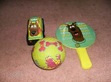 SCOOBY DOO BALL TALKING CAR & PADDLE