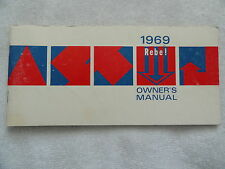 1969 AMC Rebel Owners Manual