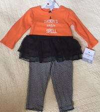 Carters Baby Daddy's Under My Spell Halloween 2-Piece Outfit 9 Months