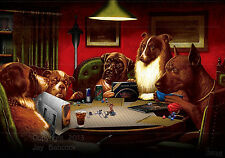 Dogs Playing D&D (1st edition D&D version) full color poster, autographed