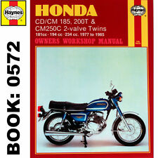 Honda CD185T CT200T inc Twinstar 2-Valve Twins 1977-85 Haynes Workshop Manual