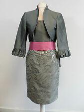 Carla Ruiz Mother Of The Bride Dress Suit - Grey & Pink - Size 8-10 - Box6441 D