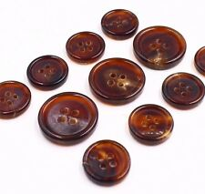 J167 Italy Brown Natural 100% Real Buffalo Horn Button Suit Jacket Blazer Set