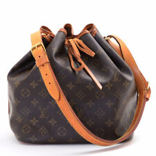 Authentic LOUIS VUITTON Monogram Canvas Petit Noe Shoulder Bag M42226