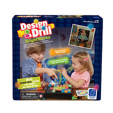 Design & Drill Brightworks - Kid's Pretend Power Drill Light Up Construction Toy