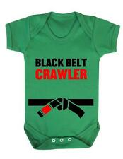 "Baby Bodysuit  ""Black Belt Crawler"" Karate Kid /  Funny Baby Suit Baby Grow"