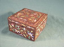 Antique Japanese Bronze and Cloisonne Enamel Floral Decorated Trinket box