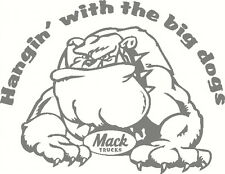 Mack Bulldog, Hangin with the big dogs, Windscreen, Sticker Decal 190 x 145mm