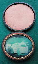 Antique Porn - Nude & Whippet Dog Painting in a Brevet Daguerreotype Case c 1850