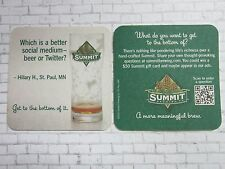 Coaster ~ SUMMIT Brewing Co ~ Which is a Better Social Medium - Twitter or Beer?