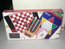 PRESSMAN GAMES TO GO,GIFT SET, CRIBBAGE,CARDS,CHESS,CHECKERS,CHINESE,VINYL CASE