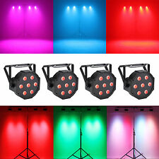 AU STOCK 4PCS 7 RGBW LED Par Light DMX512 70W 8Channel Club KTV Wedding DJ X'mas