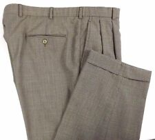 Brooks Brothers Stretch Mens Pants Size 38 x 29 Brown Houndstooth Cuffs & Pleats