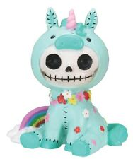 NEW Furrybones Furry Bones Unie Unicorn Blue Skull Skeleton Figurine Gift 7875