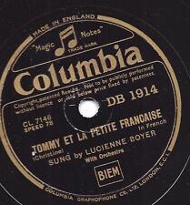 Lucienne Boyer : Tommy et la petit francaise