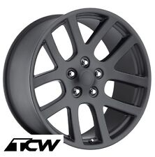 "(4) 22x10"" SRT10 Dodge Ram OE Replica Matte Black Wheels Rims fit Ram 1500 02-17"