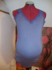 BNWT MATERNITY Cornflower Blue Lace Detail Camisole/Vest Top Size 16