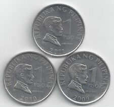 3 NICE 1 PISO COINS from the PHILIPPINES (2009, 2010 & 2011)