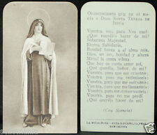 OLD BLESSED SAINT THERESE OF JESUS HOLY CARD ANDACHTSBILD SANTINI  SEE SHOP C678