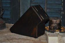 Primitive Wooden Wood Knife Holder Lamp Black Folk Art Kitchen Decor