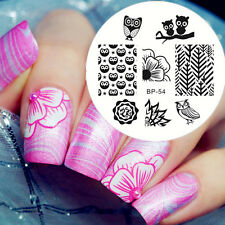 Cute Owls Flower Nail Art Stamping Template Image Stamp Plate BORN PRETTY BP54